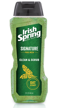 Irish Spring Signature for Men Clean & Scrub Body Wash
