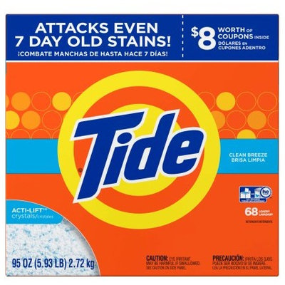 Tide Ultra Clean Breeze Scent HE Powder Laundry Detergent