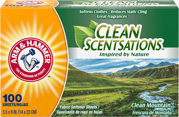 ARM & HAMMER™ Clean Scentsations™ Fabric Softener Sheets Clean Mountain