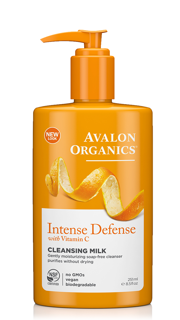 Avalon Organics Intense Defense With Vitamin C Cleansing Milk