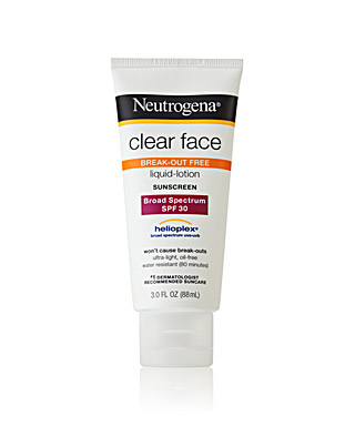 Neutrogena Clear Face Liquid Lotion Sunscreen Broad Spectrum SPF30