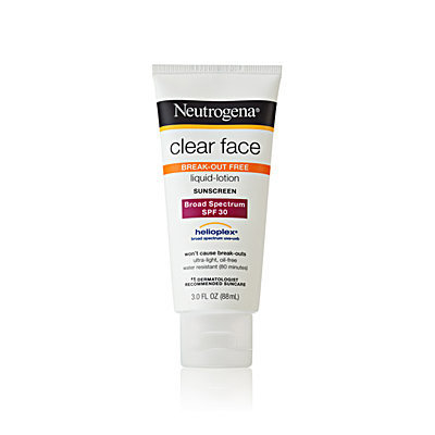 Neutrogena Clear Face Liquid Lotion Sunscreen Broad Spectrum SPF30
