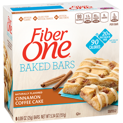 Fiber One 90 Calorie Cinnamon Coffee Cake Bars