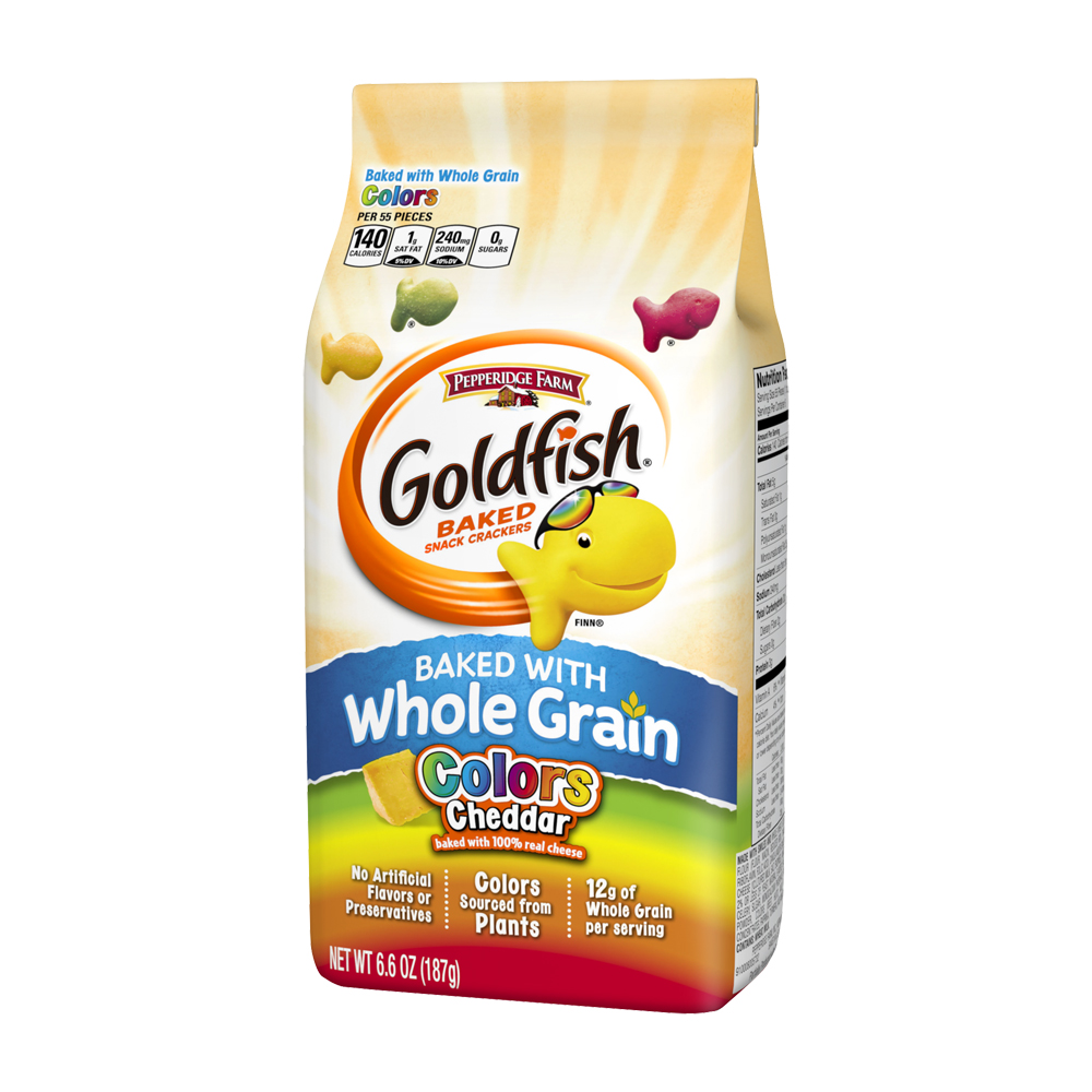 Goldfish® Baked with Whole Grain Colors Cheddar Baked Snack Crackers