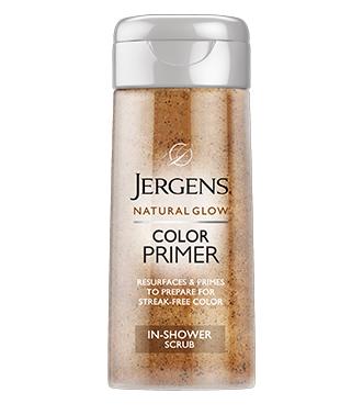 JERGENS® Natural Glow® Color Primer In-Shower Scrub