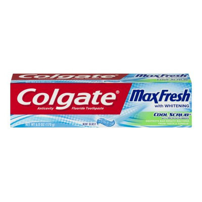 Colgate® MaxFresh® WHITENING COOL SCRUB® with Microscrubbers Toothpaste Mint Blast