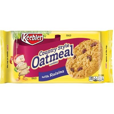 Keebler Country Style Oatmeal Cookies With Raisins