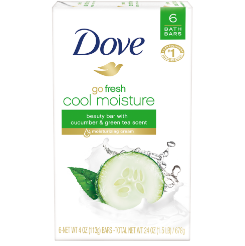 Dove Go Fresh Cool Moisture Beauty Bar cucumber
