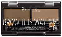 Rimmel London Brow This Way Eyebrow Sculpting Kit