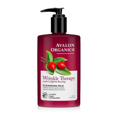 Avalon Organics Wrinkle Therapy With Coq10 & Rosehip Cleansing Milk