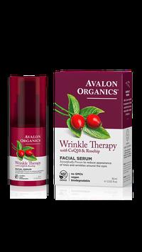 Avalon Organics Wrinkle Therapy With Coq10 & Rosehip Facial Serum