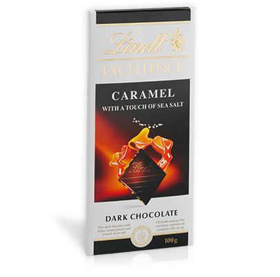 Lindt Excellence Chocolate Bar Caramel With A Touch Of Sea Salt Dark