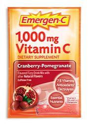 Emergen-C 1,000 mg Vitamin C Cranberry-Pomegranate