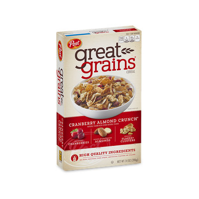 Post Great Grains Cereal Cranberry Almond Crunch