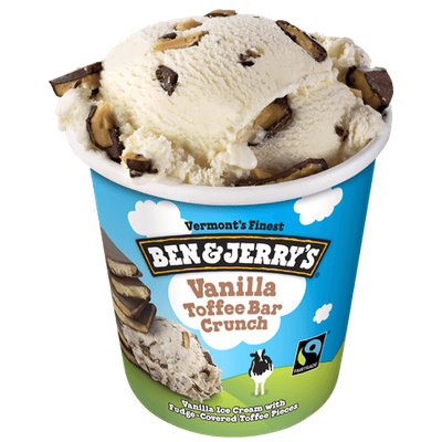 Ben & Jerry's®  Ice Cream Vanilla Toffee Bar Crunch