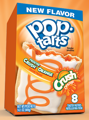 Kellogg's Pop-Tarts Frosted Crush Orange Toaster Pastries