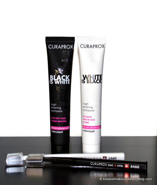 curaprox black is white white is black tough whitening toothpaste