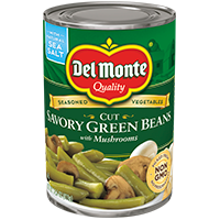 Del Monte® Garden Quality Cut Savory Green Beans with Mushrooms