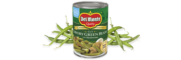 Del Monte® Cut Savory Green Beans With Mushrooms