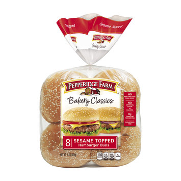 Pepperidge Farm® Bakery Classics Sesame Topped Hamburger Buns