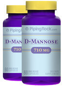 Piping Rock D-Mannose 710mg 2 Bottles x 60 Capsules