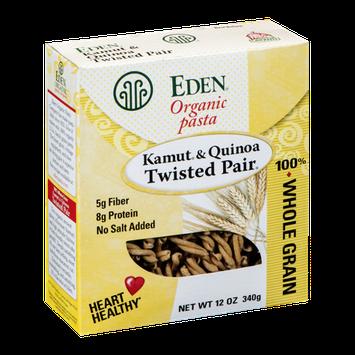 Eden Organic Pasta 100% Whole Grain Kamut & Quinoa Twisted Pair