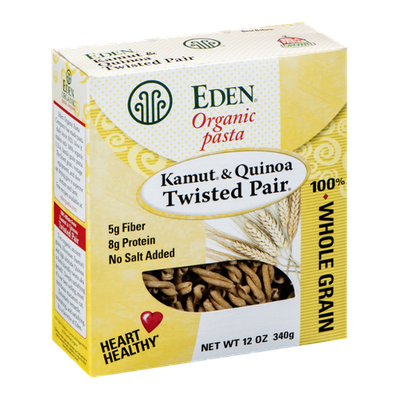Eden Organic Pasta 100% Whole Grain Kamut & Quinoa Twisted Pair