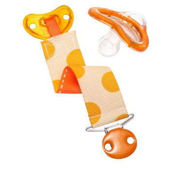 Munchkin LATCH Pacifier & Designer Clip, 6+ Months - Orange