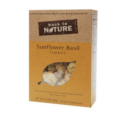 Back to Nature Sunflower Basil Crackers, 6.5 oz