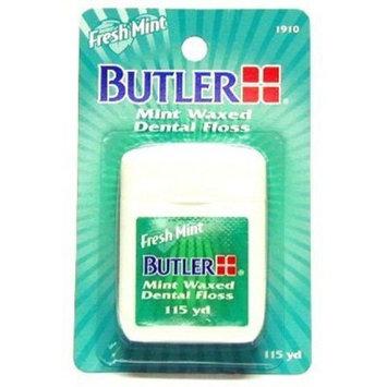Butler Mint Waxed Dental Floss 115 Yard