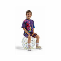 Gymnic 14'' Sit 'n' Gym Ball in Clear with Stars