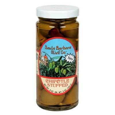 Santa Barbara Olive Co. Santa Barbara Chipotle Stuffed Olives, 5 Ounce -- 6 per case.