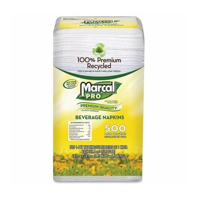 Marcal Paper Mills, Inc. Marcal Paper Mills 0028 1-Ply Beverage Napkins