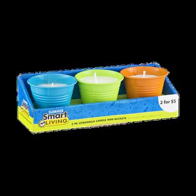 Smart Living Citronella Candle Mini Buckets - 3 PK