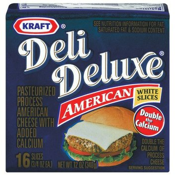 Kraft Deli Deluxe White American Cheese Slices 12 oz 16 ct