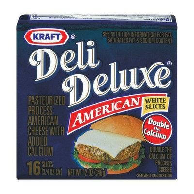 Kraft Deli Deluxe White American Cheese Slices 12 oz 16 ct