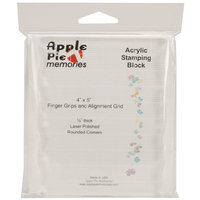 Apple Pie Memories Acrylic Stamp Block With Grips