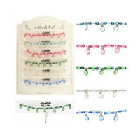Ddi Silvertone Anklet- Assorted Colors (Pack Of 60)