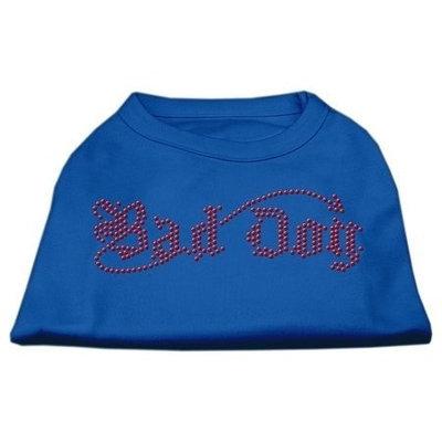 Ahi Bad Dog Rhinestone Shirts Blue Lg (14)