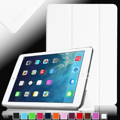 Fintie SmartShell Case Ultra Slim Lightweight Cover for iPad Mini 2 (2013 Edition) and Mini (2012 Edition), White
