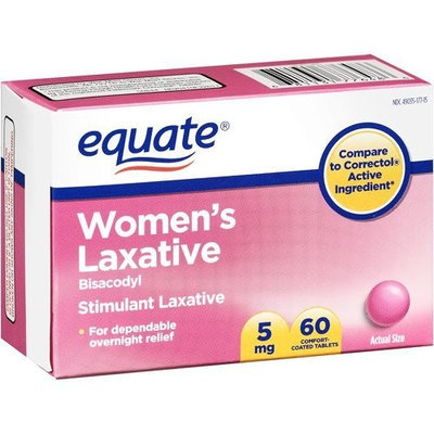 Equate - Women's Laxative Tablets, Bisacodyl 5 Mg (Compare To Correctol), 60-Count