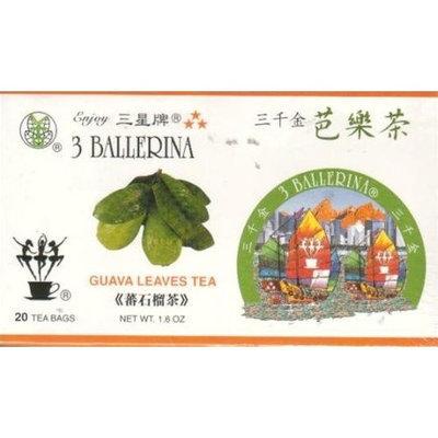 3 Ballerina 3 Stars 100% Pure Guava Leaf Tea - 20 Tea Bags (1.6 Oz)