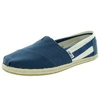 Toms Womens Classic Stripe University Slip On Casual Shoe [Dark Grey, 5.5 B(M) US]