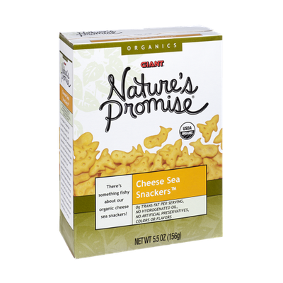 Giant Nature's Promise Organics Cheese Sea Snackers