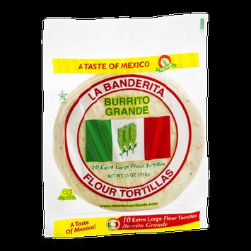 La Banderita Burrito Grande Extra Large Flour Tortillas - 10 CT