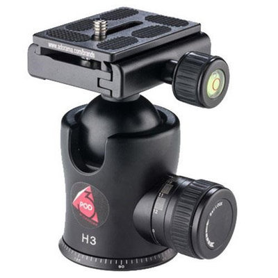 3Pod H3 Magnesium Alloy BallHead with Quick Release Plate, 28.6lb Capacity