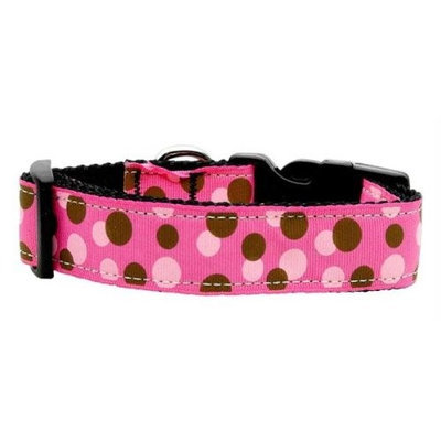 Mirage Pet Products 125012 LGBPK Confetti Dots Nylon Collar Bright Pink Large