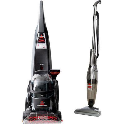 Bissell DeepClean Lift-Off Deluxe Pet Upright Deep Cleaner with Your Choice of Bonus Stick Vac
