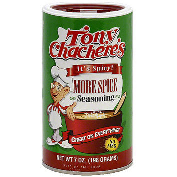 Tony Chachere's More Spice Seasoning, 7 oz (Pack of 6)