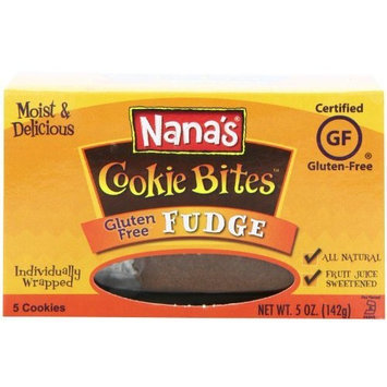 Nana's No Gluten Fudge Cookie Bites, 5-Ounce Boxes (Pack of 12)